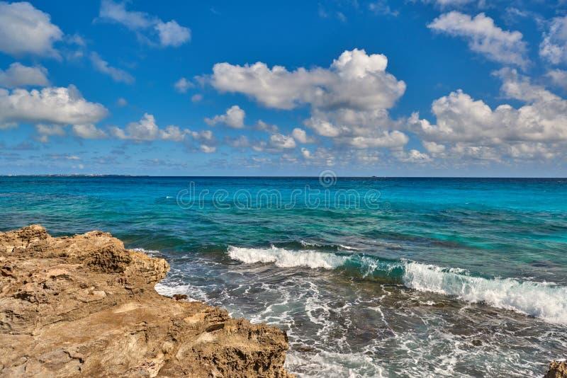 Природа рая, лето на тропическом пляже стоковое изображение rf