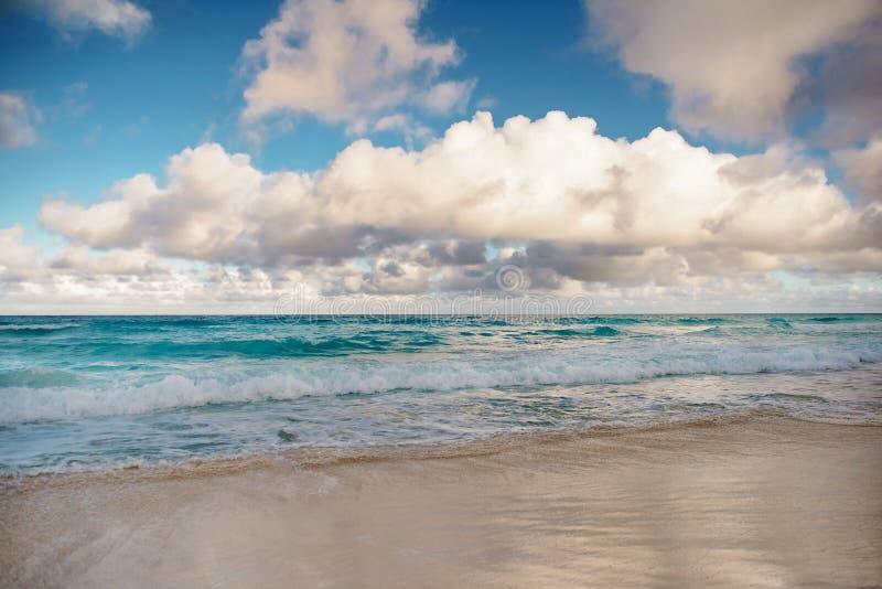 Природа рая, лето на тропическом пляже стоковое фото