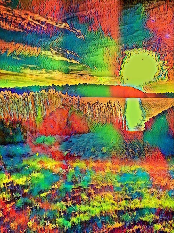 Природа с психоделическим касанием бесплатная иллюстрация