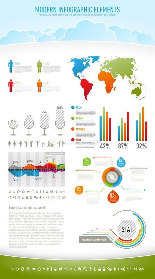 природа элементов infographic самомоднейшая