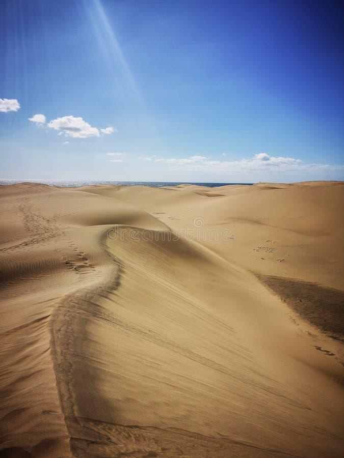Природный заповедник дюн Maspalomas в Гран-Канарии, Испании стоковое фото rf