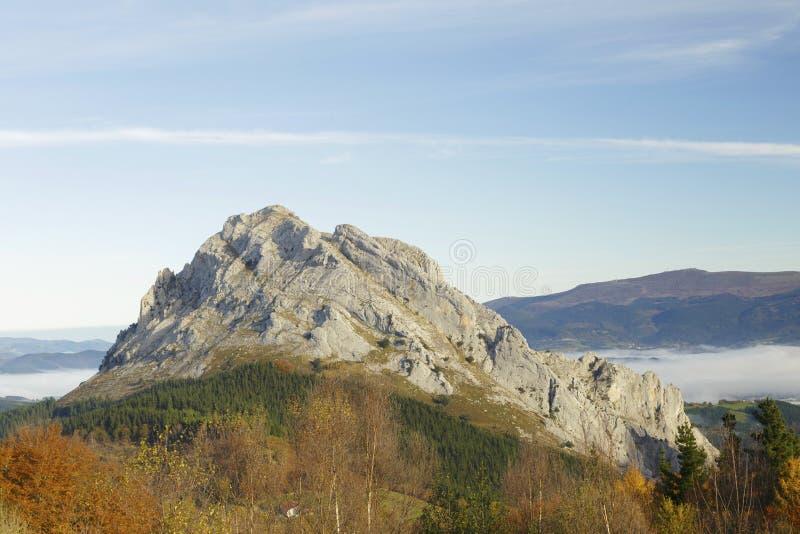 Природный парк Urkiola, Баскония, Испания стоковая фотография rf