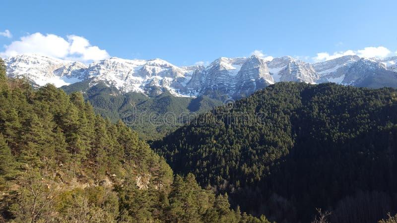 Природа в горах pyrinees стоковая фотография rf