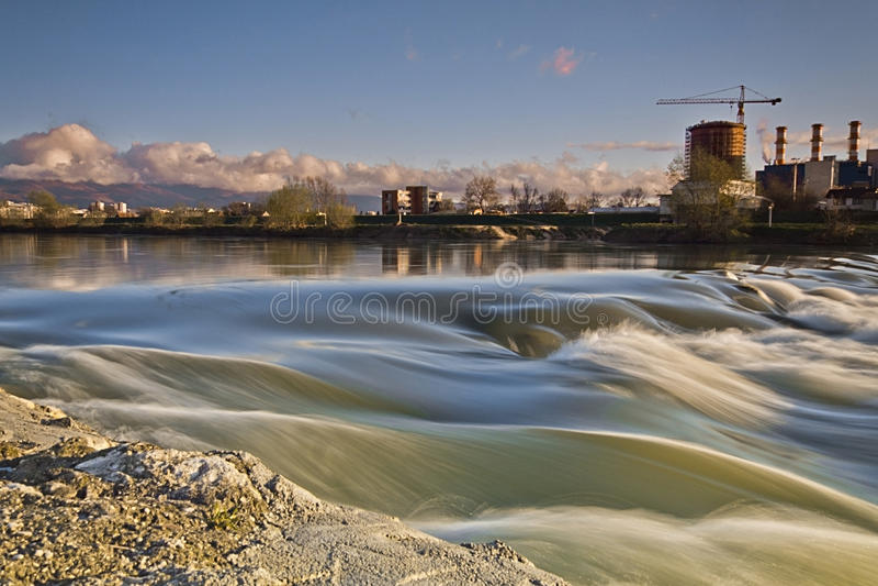 Природа и загрязнение стоковое изображение