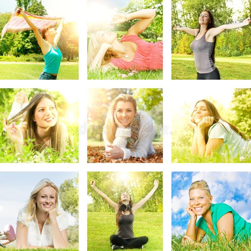 Природа enjoment девушки счастья стоковые изображения