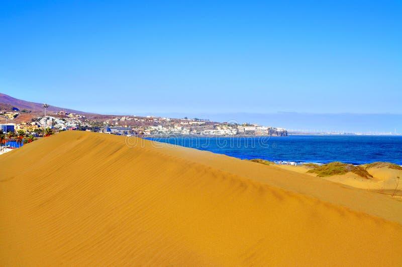 Природный заповедник дюн Maspalomas, в Gran Canaria, Испания стоковое фото