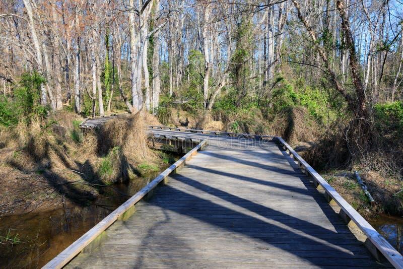 Природный парк Conestee озера SC Greenville стоковое фото rf