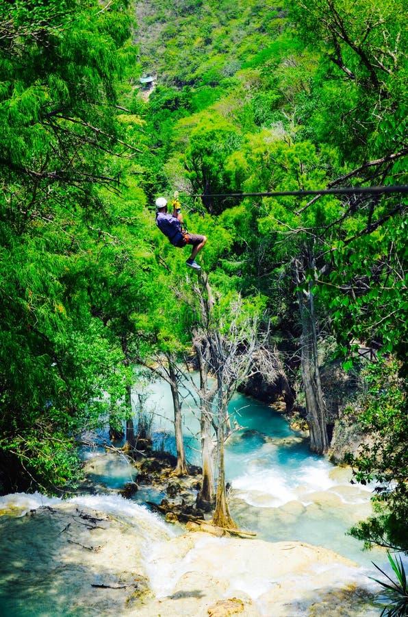 Природный парк El Chiflon, Чьяпас, Мексика, 21-ое мая стоковая фотография