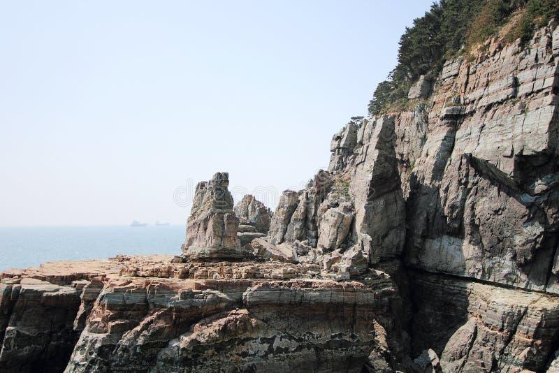 Природный парк Taejongdae в Пусане стоковое фото rf