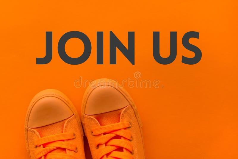 Присоединяться к нам приглашение стоковая фотография