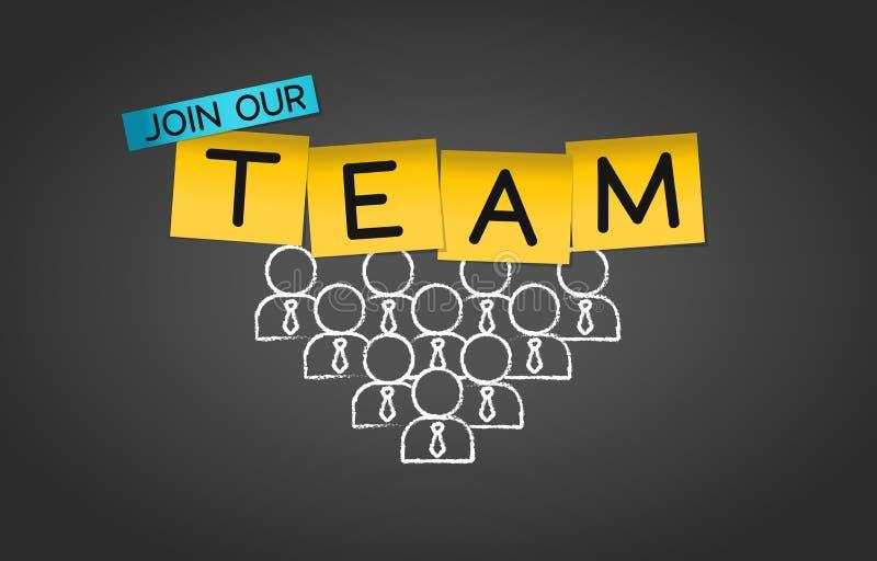 Присоединяться к нашей предпосылке концепции группы сотрудничества команды иллюстрация штока