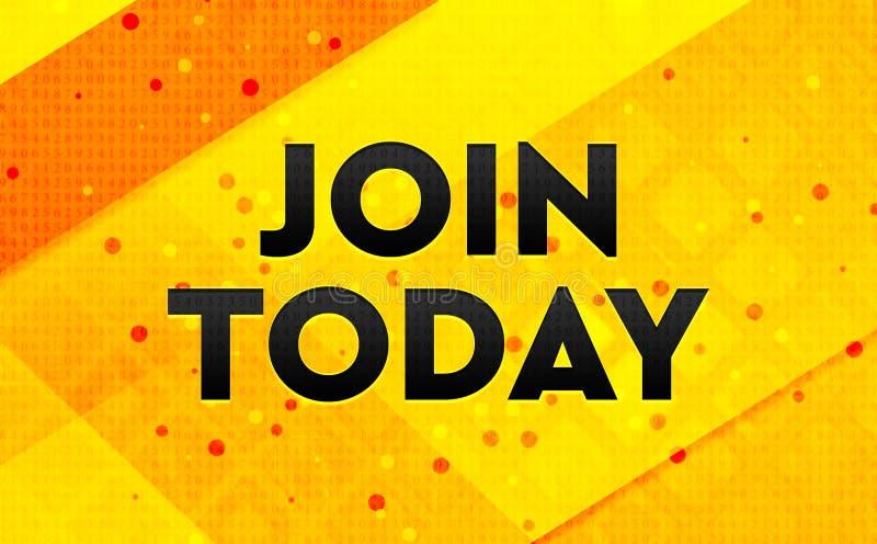 Присоединяться к сегодня предпосылке абстрактного цифрового знамени желтой бесплатная иллюстрация