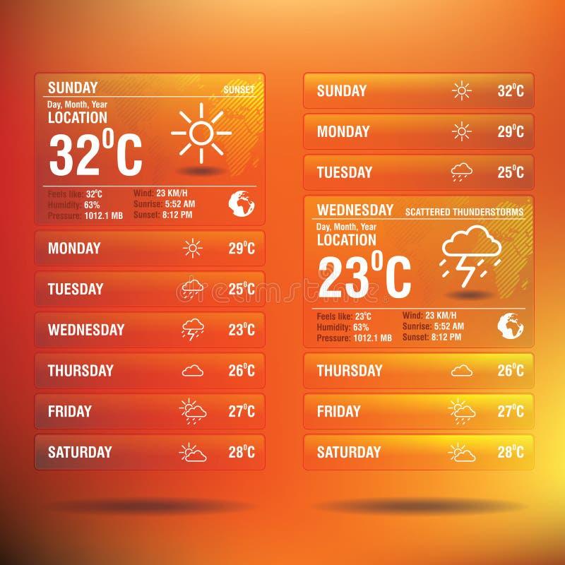 Приспособление app погоды для черни бесплатная иллюстрация