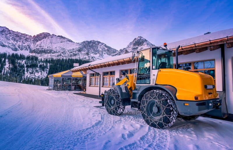Приспособленная зима затяжелителя колеса стоковые изображения