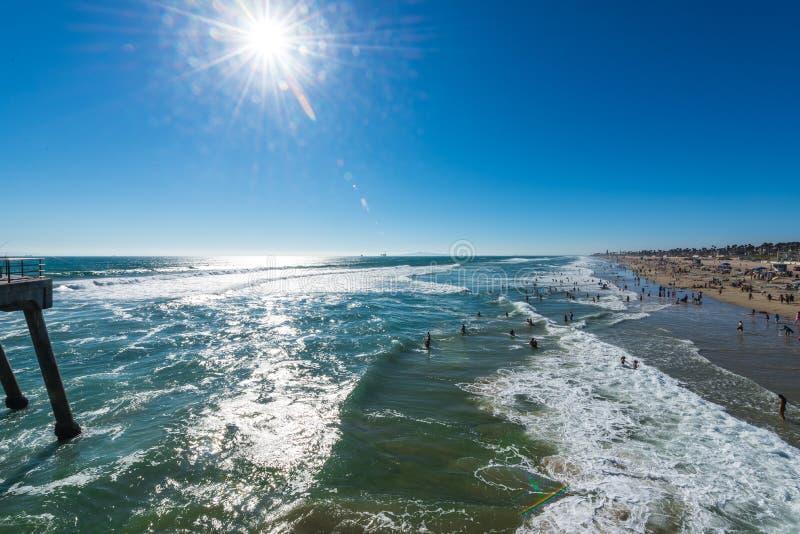 пристаньте день к берегу стоковое фото