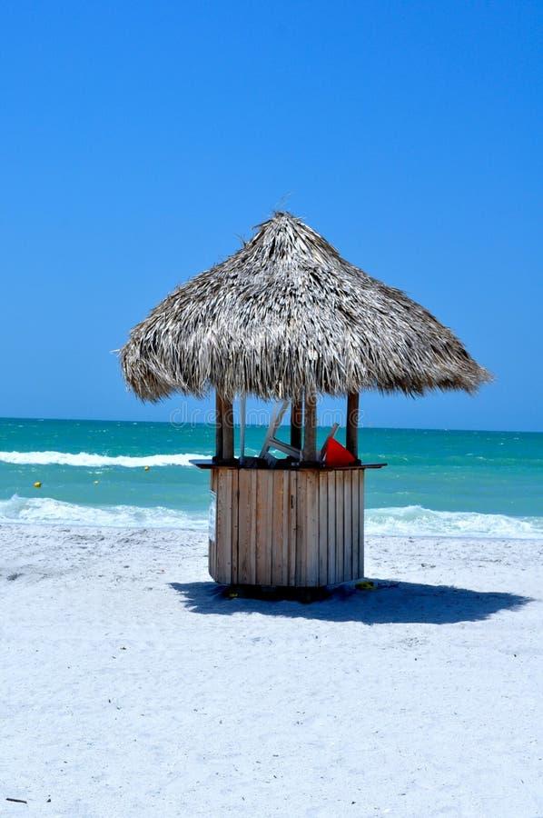 пристаньте хату к берегу Мексику залива стоковая фотография rf