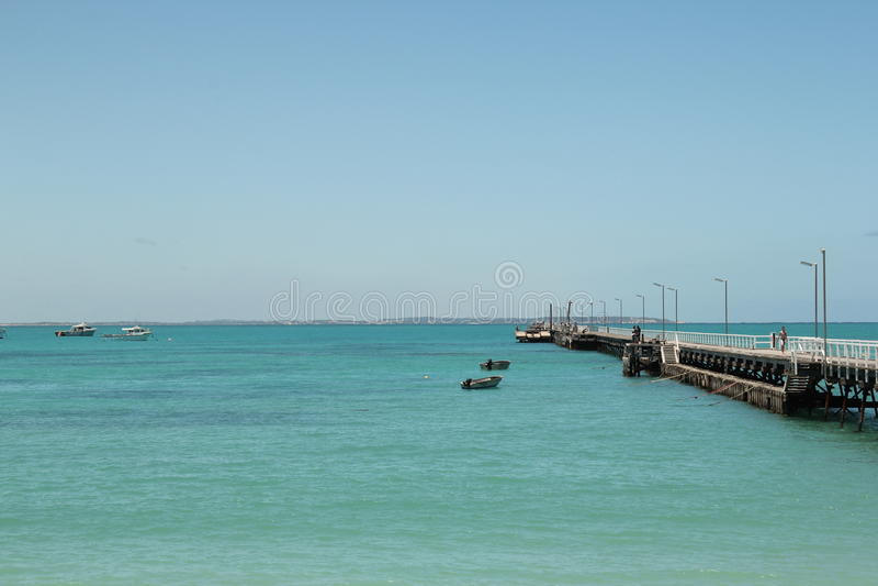 Пристань Австралия beachport солнечного дня стоковая фотография rf