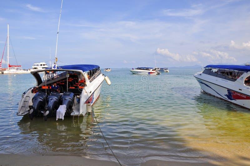 Пристань быстроходного катера Samui стоковое фото rf
