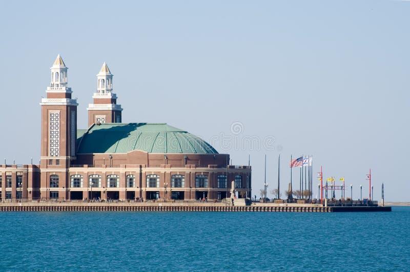 пристань военно-морского флота chicago стоковое изображение