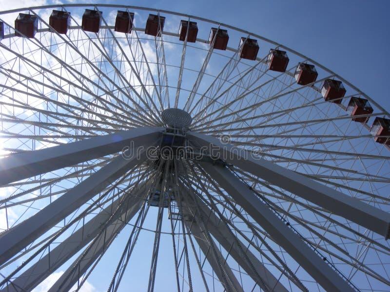 Пристань военно-морского флота Чикаго Иллинойса колеса Ferris стоковое фото rf