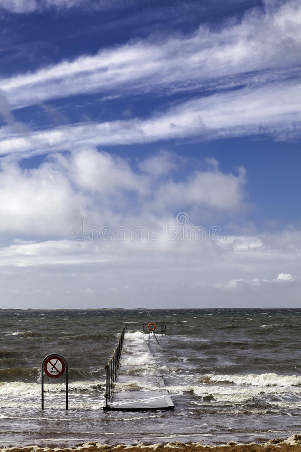 Пристань в Esbjerg, Дании стоковое изображение