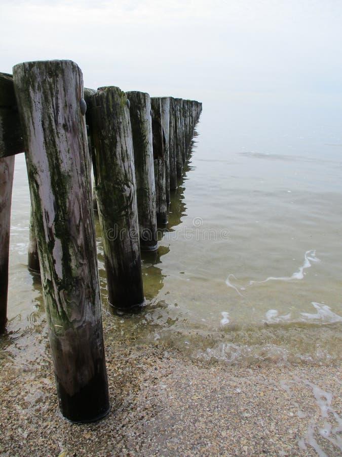 Пристань в Ijsselmeer стоковая фотография rf