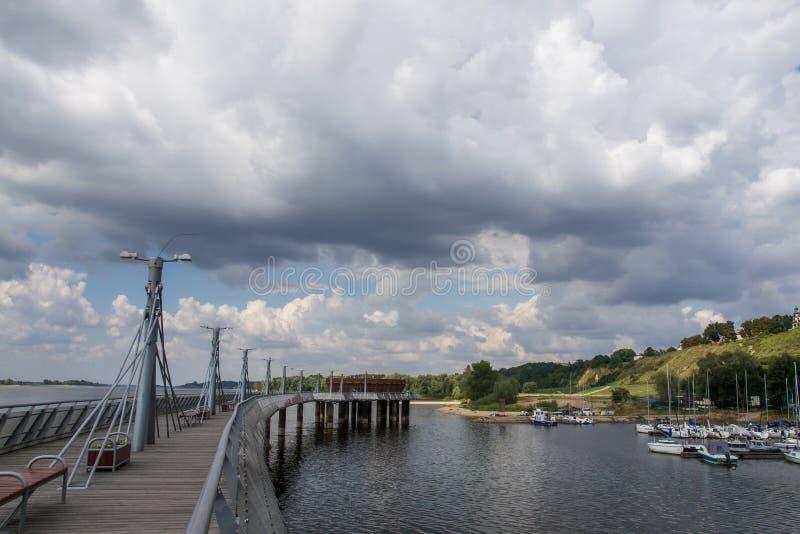 Пристань в Plock на Реке Висла, Польше стоковая фотография rf
