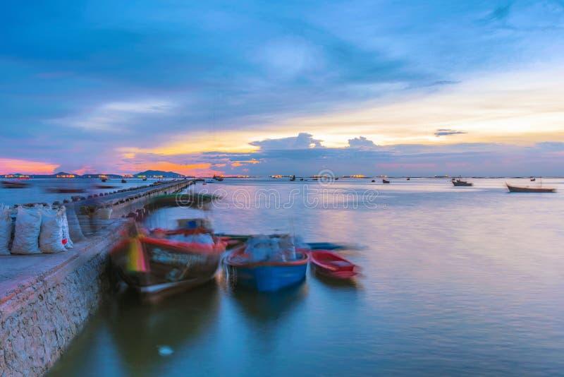 Пристань в Siracha стоковое изображение rf