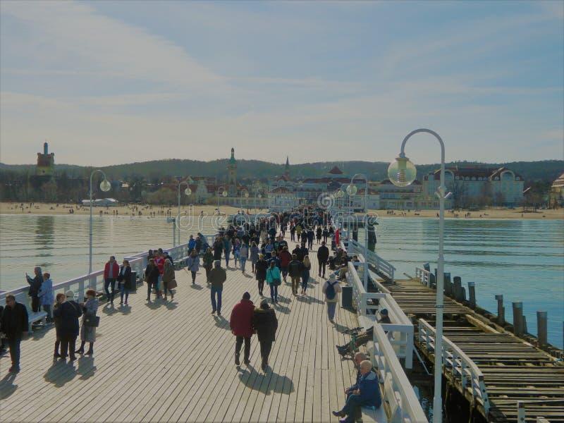 Пристань в Sopot стоковые изображения