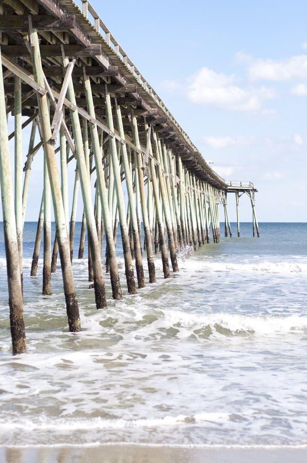 пристань Каролины пляжа северная стоковое фото rf