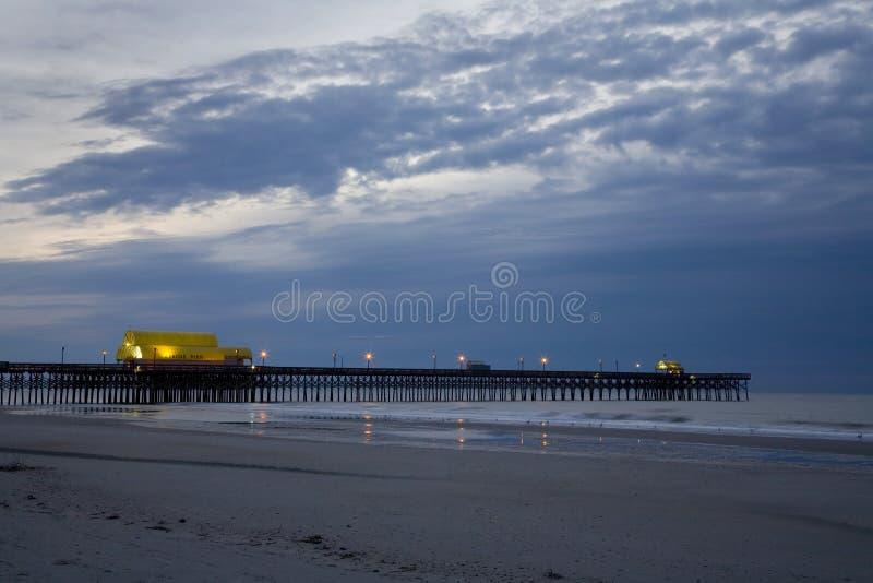 пристань мирта пляжа стоковые фото