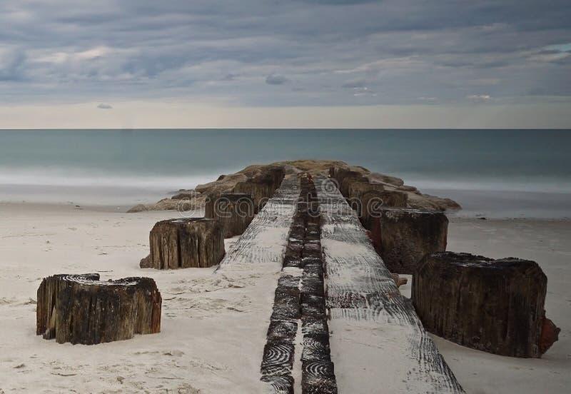 Пристань на острове Pawleys стоковая фотография