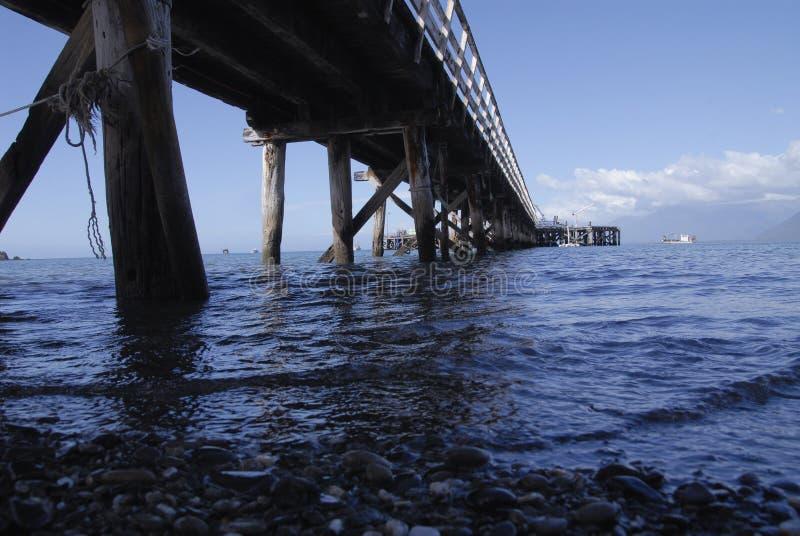 Пристань Новая Зеландия залива Джексона стоковая фотография