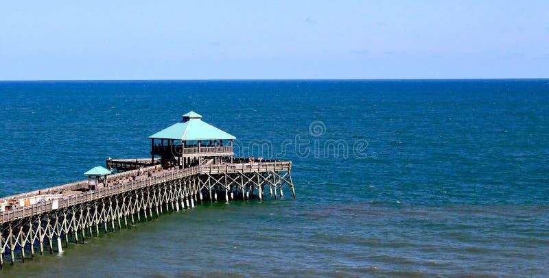 Пристань пляжа сумасбродства в SC стоковые изображения
