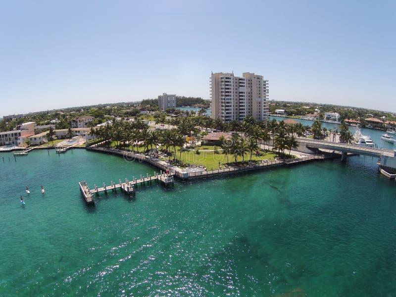 Пристань портового района в южной Флориде стоковое изображение