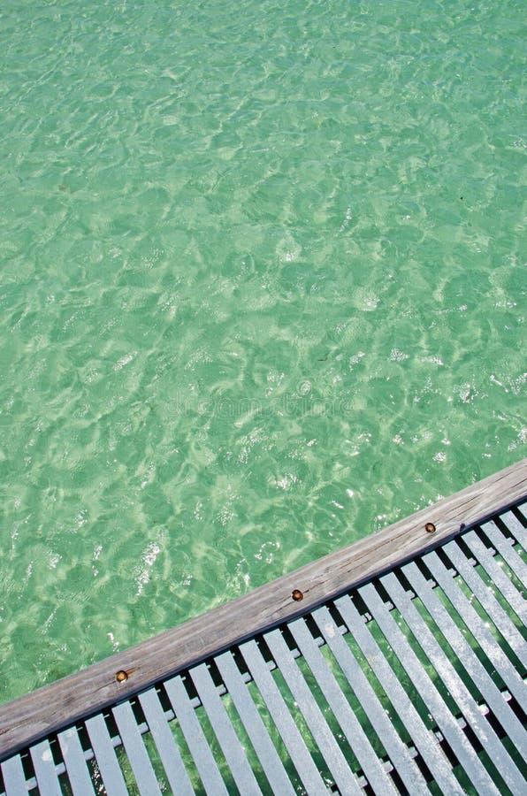 Пристань пляжа Higgs, море, Key West, ключи, Cayo Hueso, Monroe County, остров, Флорида стоковые изображения rf