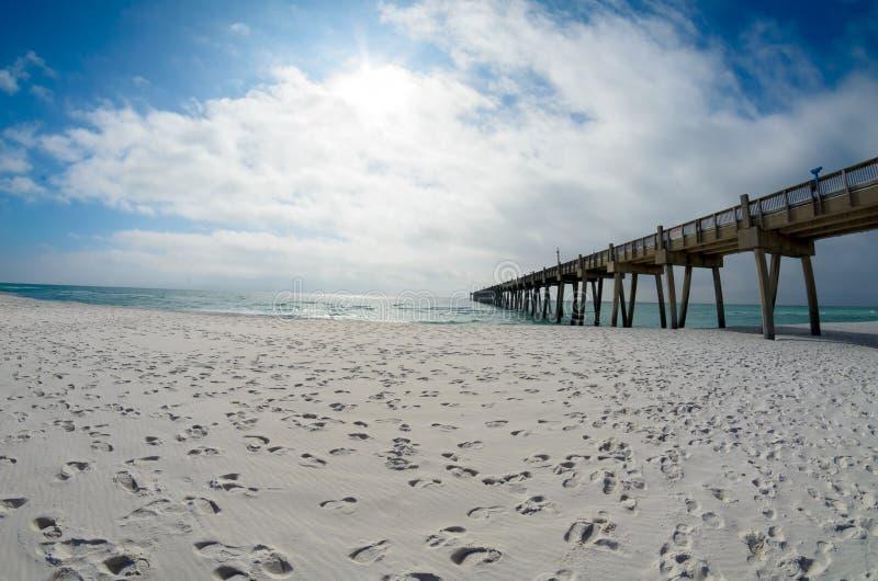 Пристань рыбной ловли пляжа Pensacola стоковое изображение