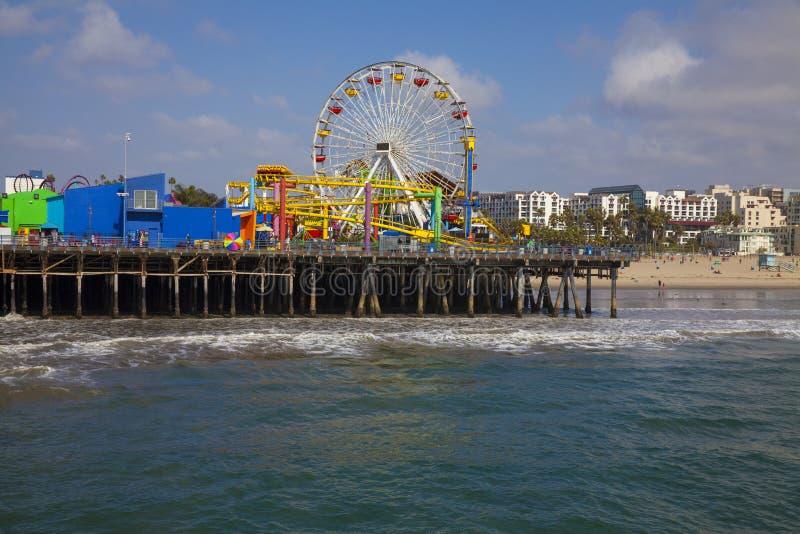 Пристань Санта-Моника в южной Калифорнии, США. стоковые фото