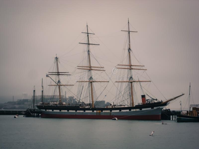 Пристань Сан-Франциско улицы Hyde пиратского корабля стоковое фото rf
