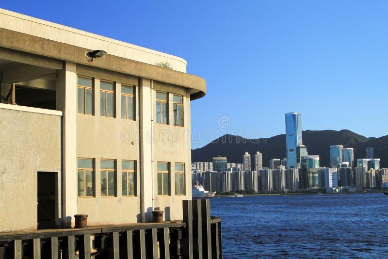 пристань схвата kwun на Гонконге стоковая фотография rf