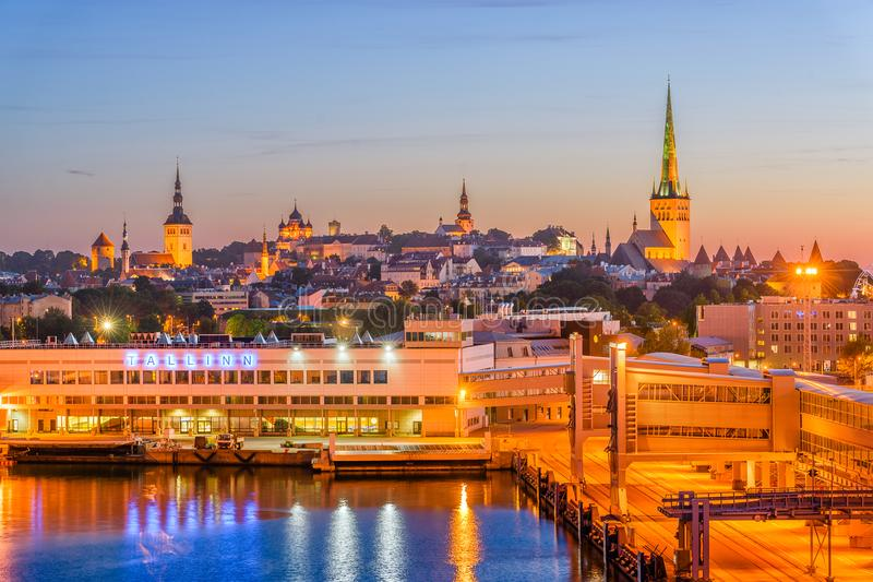 Пристань Таллина, Эстонии стоковые изображения