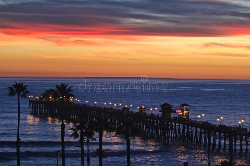 Пристань Тихого океана южной Калифорнии стоковое изображение rf