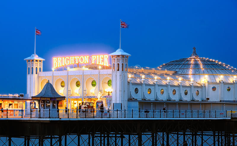 Пристань Brighton, Англия стоковая фотография