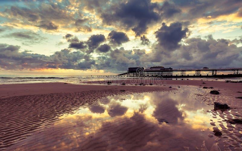 Пристань Cromer, Норфолк Великобритания стоковые фотографии rf