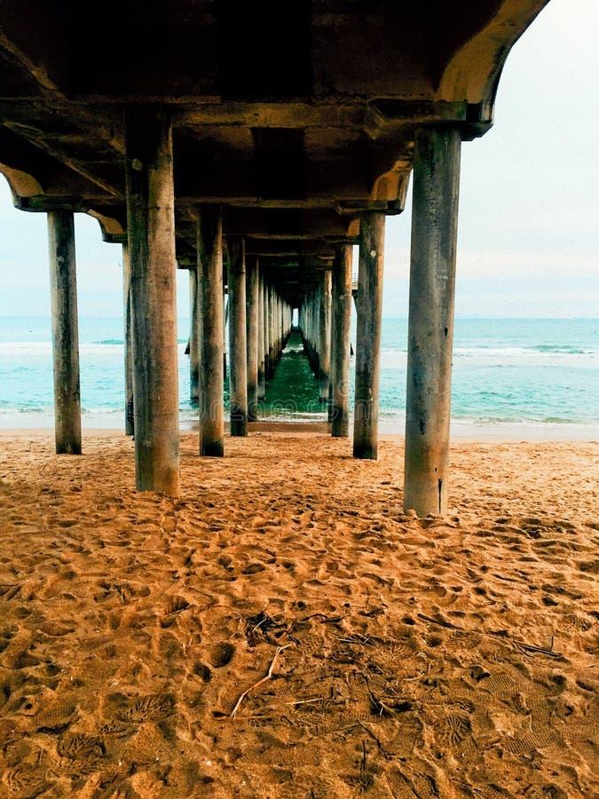 пристань huntington пляжа вниз стоковые изображения