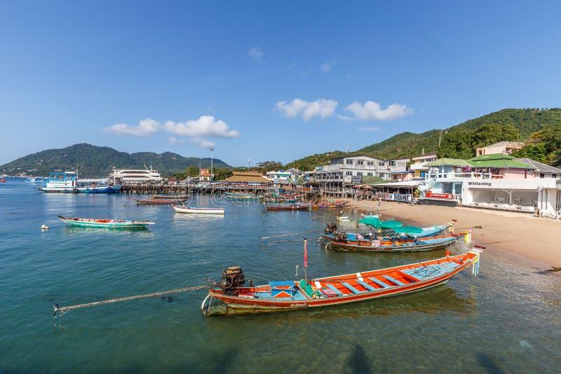 Пристань Mae Haad, Koh Дао стоковые фотографии rf
