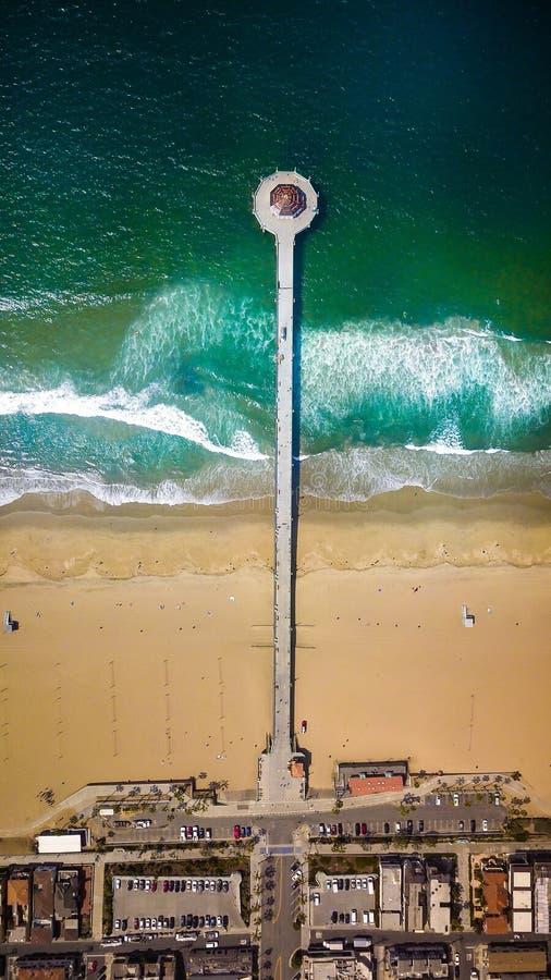 пристань manhattan пляжа стоковое изображение