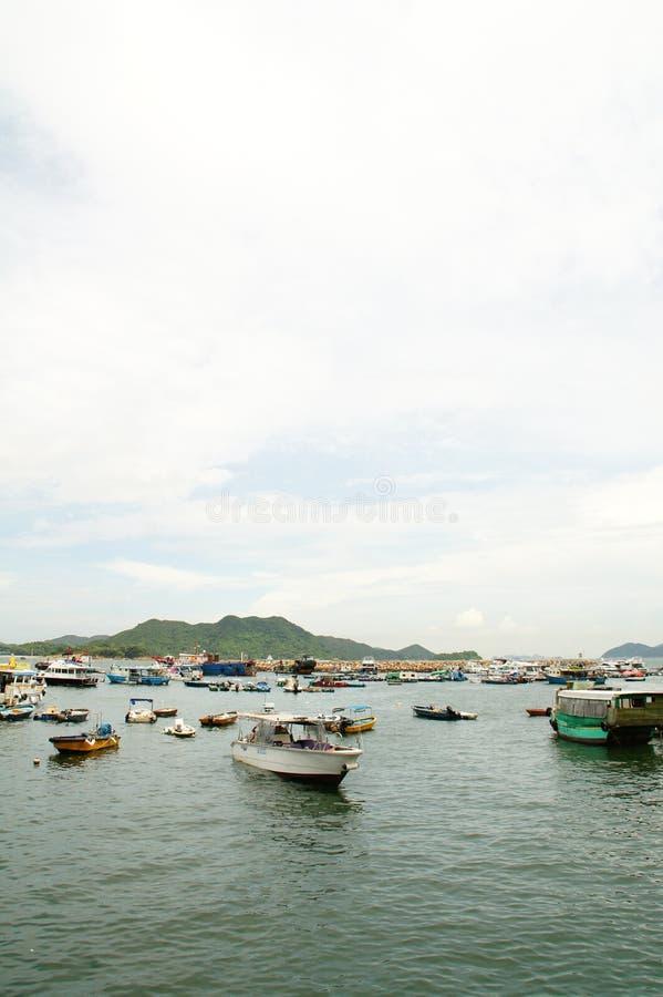 Пристань Sai Kung, Гонконг стоковые фотографии rf