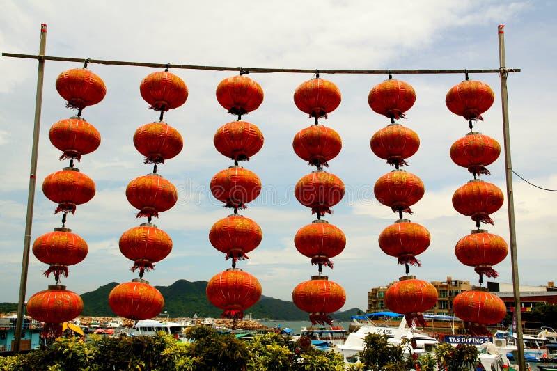Пристань Sai Kung, Гонконг стоковое фото