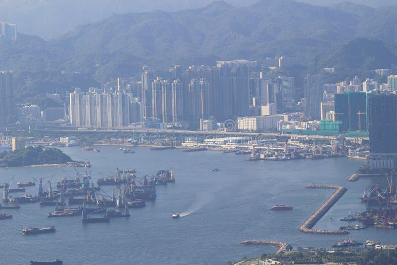 Пристань Tsim Sha Tsui паромный терминал стоковое фото rf